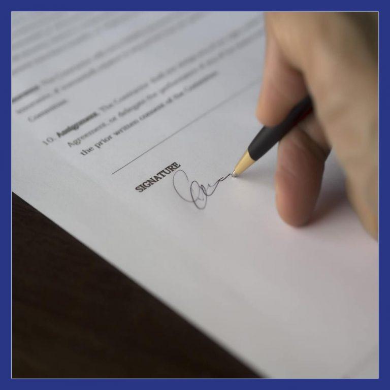 contrat gaz signature