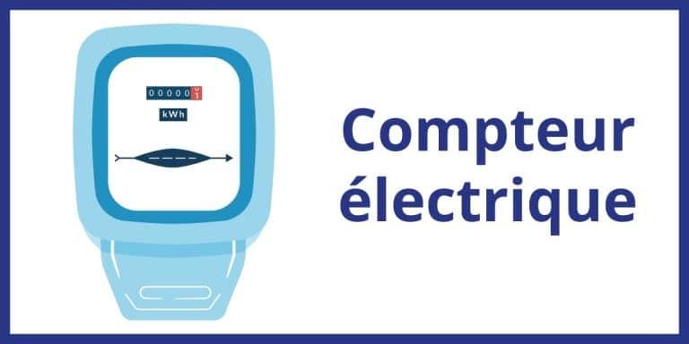 compteur électrique électricité mecanique