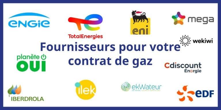 contrat gaz naturel different fournisseurs gaz